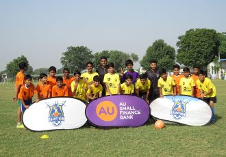 Baby League launch by AU Rajasthan FC and Rajasthan Football Association in Jaipur. (Photo courtesy: AU Rajasthan)