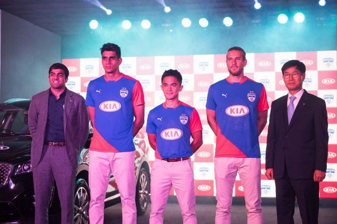 Kia Motors and Bengaluru FC announce their partnership. (Photo courtesy: Bengaluru FC)