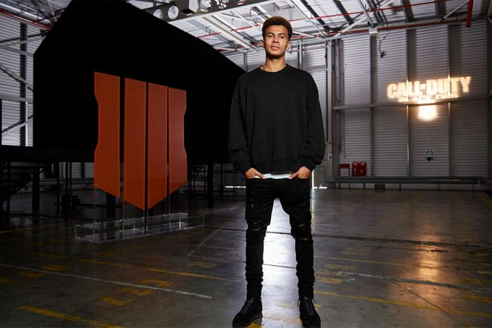 "Dele Alli launches Call of Duty: Black Ops 4 in the ""world's darkest room"". (Photo courtesy: TVC Group)"