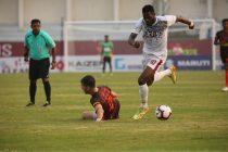 Hero I-League match action between Gokulam Kerala FC and Mohun Bagan AC at the EMS Corporation Stadium in Kozhikode. (Photo courtesy: AIFF Media)