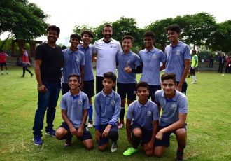LaLiga Ambassador and French international Robert Pires at the LaLiga Football Schools launch in New Delhi. (Photo courtesy: LaLiga)