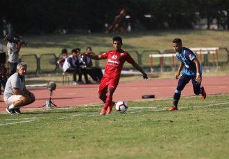 Hero I-League match action between defending champions Minerva Punjab FC and Churchill Brothers FC Goa. (Photo courtesy: AIFF Media)