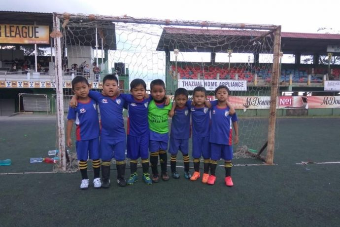 Kids during the Mizoram Football Association Grassroots Festival in Aizawl. (Photo courtesy: Mizoram Football Association)