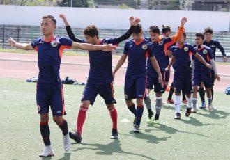 Shillong Lajong FC training session. (Photo courtesy: AIFF Media)