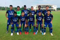 Chennaiyin FC U-18 team ahead of their AIFF U-18 Youth League 2018-19 opener at the SSN College Ground in Chennai. (Photo courtesy: Chennaiyin FC)