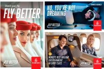 "Visuals of the Emirates ""Fly Better"" campaign. (© Emirates)"