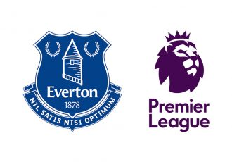 Logos of Everton Football Club and the Premier League.