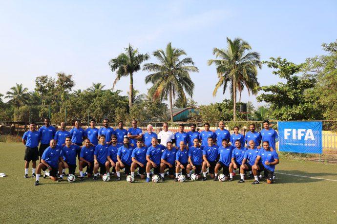 Participants of the FIFA Youth Coaching Course in Goa. (Photo courtesy: AIFF Media)