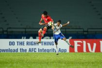 AFC U-16 Championship Malaysia 2018 quarter-final action bewteen Korea Republic and India. (Photo courtesy: AIFF Media)