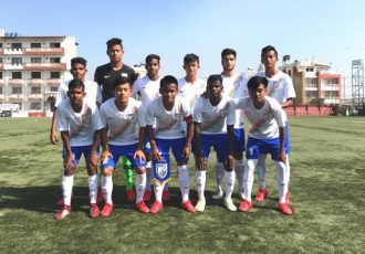 India U-15 national team at the SAFF U-15 Championship in Kathmandu, Nepal. (Photo courtesy: AIFF Media)