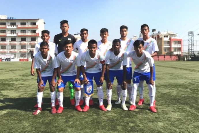 India U-15 national team at the SAFF U-15 Championship in Kathmandu, Nepal. (Photo courtesy: AIFF Media)
