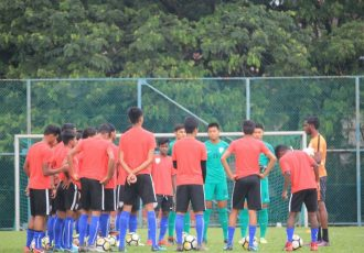 India U-16 national team training session. (Photo courtesy: AIFF Media)