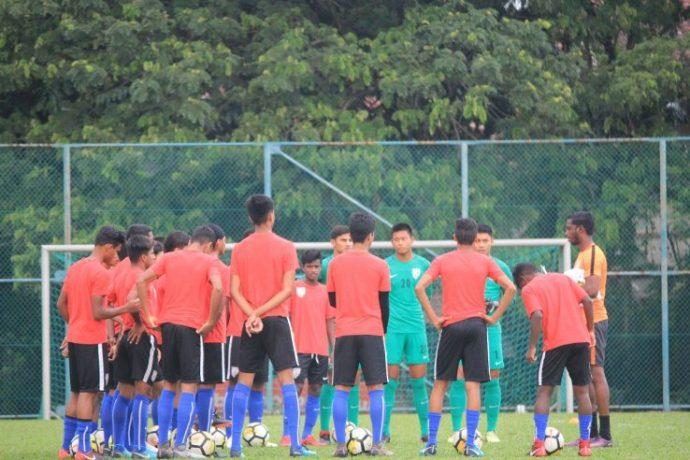 India U-16 national team training session. (Photo courtesy: AIFF Media)
