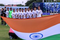 The India U-19 Women's national team at the AFC U-19 Women's Championship Qualifiers. (Photo courtesy: AIFF Media)