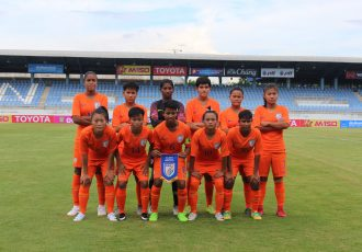 The India U-19 Women's national team ahead of their AFC U-19 Women's Championship qualifier. (Photo courtesy: AIFF Media)