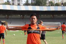 Indian international Jeje Lalpekhlua during an Indian national team training session. (Photo courtesy: AIFF Media)