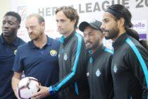 I-League pre-match press conference ahead of the Minerva Punjab FC vs Real Kashmir FC encounter. (Photo courtesy: AIFF Media)