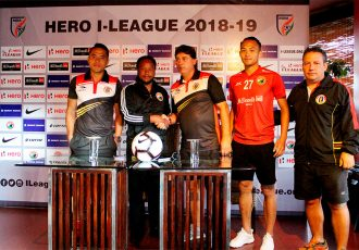 I-League pre-match press conference ahead of the Shillong Lajong FC vs East Bengal FC encounter. (Photo courtesy: Shillong Lajong FC)