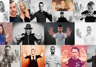 UNICEF's #Stop10Seconds campaign featuring German celebrities. (© UNICEF)