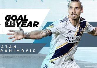 Zlatan Ibrahimović wins AT&T MLS Goal of the Year. (Image courtesy: Major League Soccer)