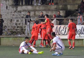 Mizoram Premier League (MPL) match action between Aizawl FC and Mizoram Police. (Photo courtesy: Mizoram Football Association)