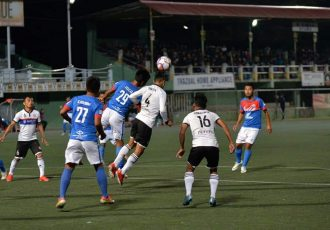 Mizoram Premier League action between Chhinga Veng FC and Chanmari FC. (Photo courtesy: Mizoram Football Association)