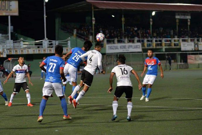Mizoram Premier League action between Chhinga Veng FC and Chanmari FC. (Photo courtesy: Mizoram Football Association)