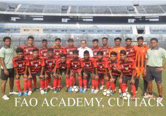 The FAO Academy U-18 team for the U-18 Youth League. (Photo courtesy: Football Association of Odisha)
