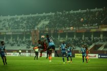 Hero I-League match action between Gokulam Kerala FC and Minerva Punjab FC. (Photo courtesy: AIFF Media)
