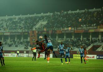Hero I-League match action between Gokulam Kerala FC and Minerva Punjab FC. (Photo courtesy: AIFF Media)