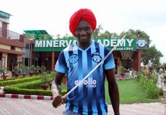 Minerva Punjab FC Nigerian striker Donatus Edafe. (Photo courtesy: Minerva Punjab FC)