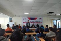 Referee Development Course at the Rajiv Gandhi Stadium in Aizawl. (Photo courtesy: Mizoram Football Association)