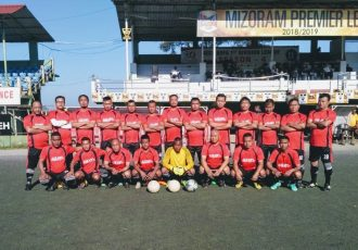 The MFA Veteran Football League 2018/19 continued on Saturday afternoon at the AR Lammual Stadium in Aizawl. (Photo courtesy: Mizoram Football Association)