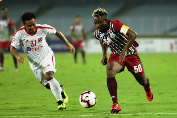 Hero I-League match action between Mohun Bagan AC and Aizawl FC. (Photo courtesy: AIFF Media)