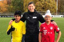 Sanskar Sangavi, Verena Willinek and Nirvaan Sawhney. (Photo courtesy: German Football Academy)