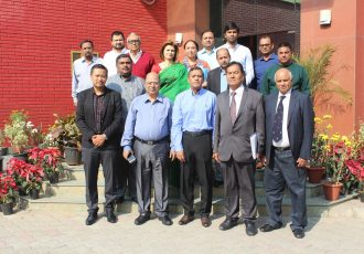 The AIFF Executive Committee after its meeting at Football House in New Delhi. (Photo courtesy: AIFF Media)