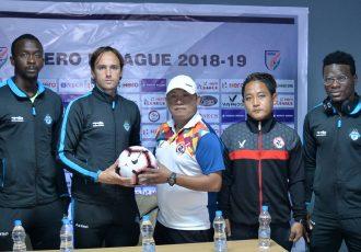 Pre-match press-conference ahead of the Hero I-League encounter Aizawl FC vs Minerva Punjab FC. (Photo courtesy: AIFF Media)