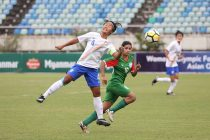Ashalata Devi in action for the Indian Women's national team. (Photo courtesy: AIFF Media)