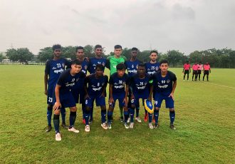 The Chennaiyin FC U-18 team ahead of their U-18 Youth League match. (Photo courtesy: Chennaiyin FC)
