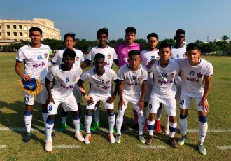 The Chennaiyin FC U-18 team ahead of their U-18 Youth League encounter. (Photo courtesy: Chennaiyin FC)