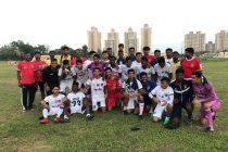 The Chennaiyin FC U-18 team after their U-18 Youth League match. (Photo courtesy: Chennaiyin FC)