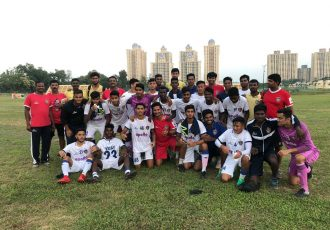 The Chennaiyin FC U-18 team after their U-18 Youth League match. (Photo courtesy: Chennaiyin FC)