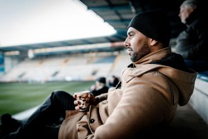 Chris Punnakkattu Daniel (CPD Football) at the SchücoArena, Bielefeld. (© Oliver Hugo - www.oliver-hugo.de)