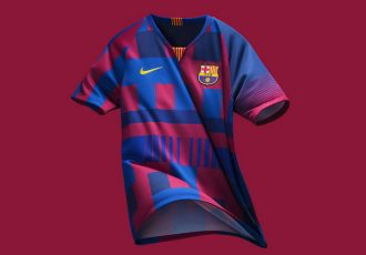 The Barça x Nike 20th Anniversary Jersey (Photo courtesy: Nike)