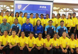 Participants of the FIFA MA Women Referees in Kochi, India. (Photo courtesy: AIFF Media)