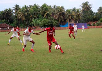 Goa Pro League match action between Sporting Clube de Goa and Churchill Brothers SC. (Photo courtesy: Goa Football Association)