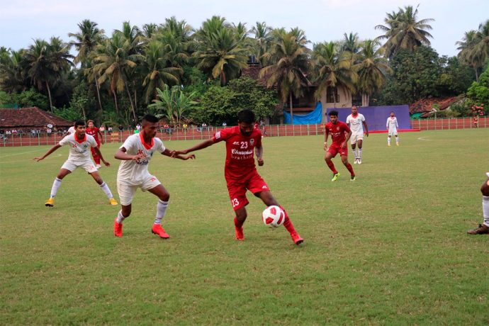 Goa Pro League match action between Sporting Clube de Goa and Churchill Brothers SC. (Photo courtesy: Goa Football Association)