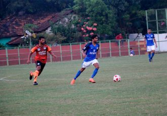 Goa Pro League match action between Guardin Angel SC and Dempo SC. (Photo courtesy: Goa Football Association)