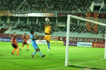 Hero I-League match action between Gokulam Kerala FC and Churchill Brothers FC. (Photo courtesy: AIFF Media)