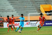 Hero I-League match action between Chennai City FC and Churchill Brothers FC Goa. (Photo courtesy: AIFF Media)